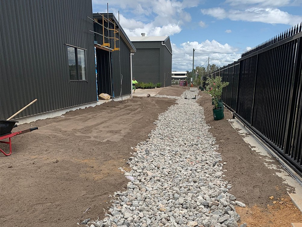 Moreton Bay Recycling uses recycled concrete aggregates to cover drainage areas
