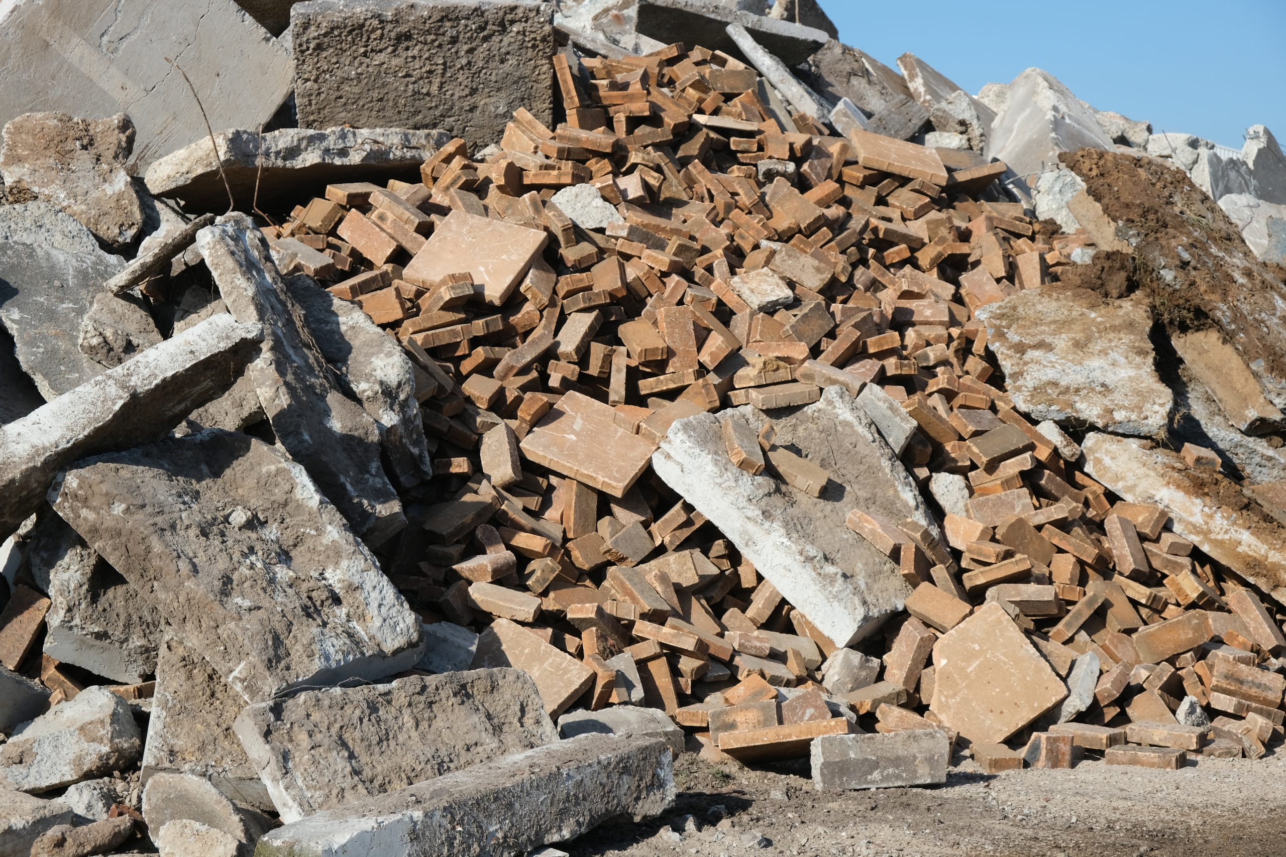Concrete waste - outdoor pavers and roof tiles