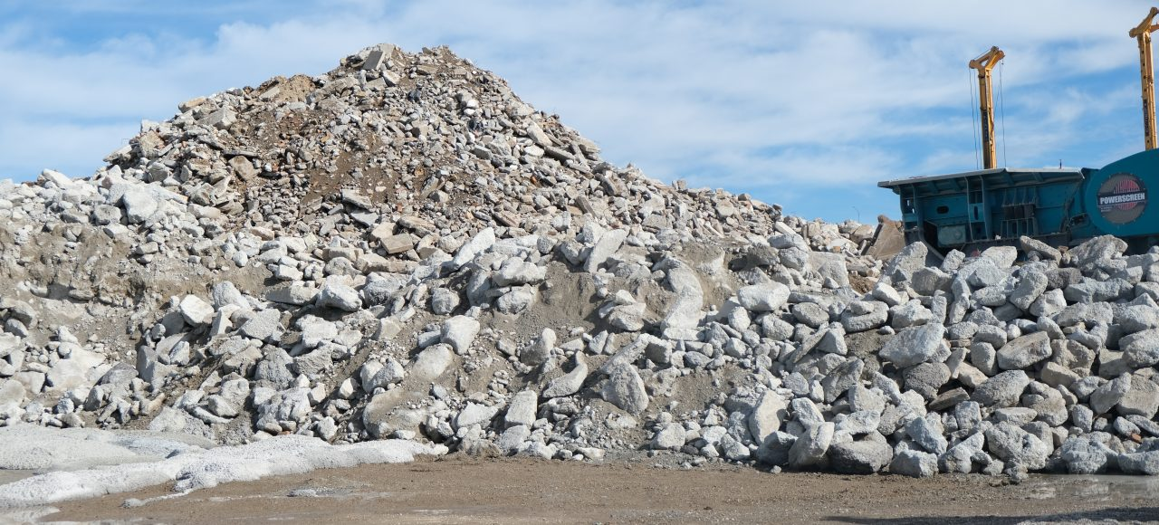 Concrete waste dumped at Moreton Bay Recycling
